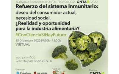 JTT_2020 Refuerzo del sistema inmunitario: Deseo del consumidor actual, necesidad social. ¿Realidad y oportunidad para la industria alimentaria?