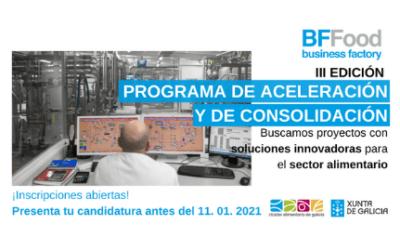 Programa de Aceleración del Cluster Alimentario de Galicia – BFFOOD